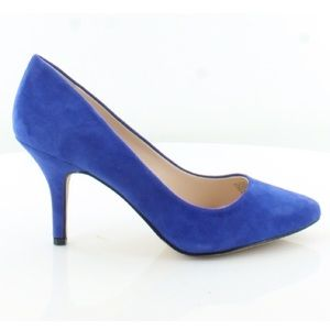 INC Dazzling Blue Zitah Suede Pumps